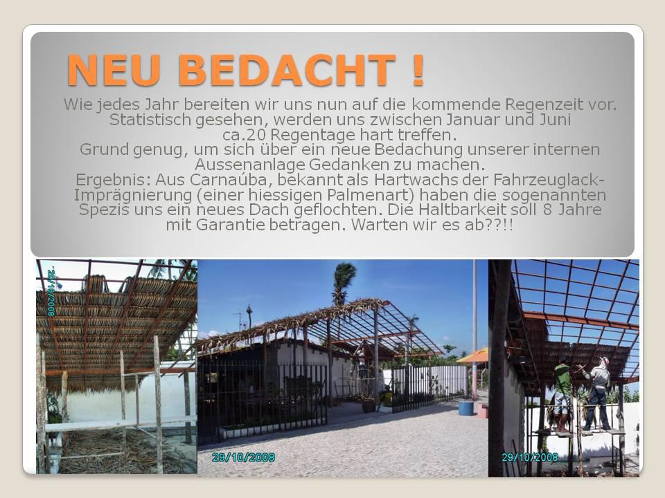 Neues Dach 2008 Bola Mania Deutsches Restaurant In Brasilien